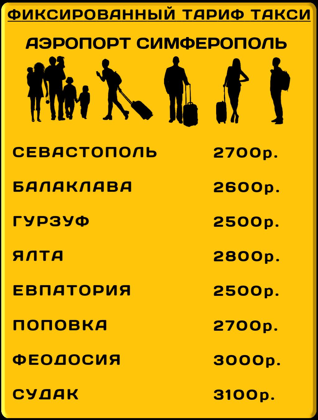 Такси минивэн симферополь аэропорт